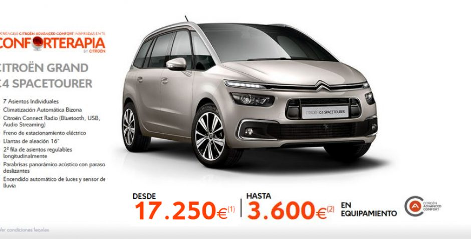 Nuevo Citroën Grand C4 Spacetourer- Conforterapia