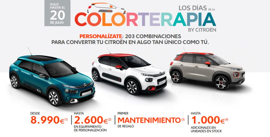 Los días de la COLORTERAPIA by Citroën